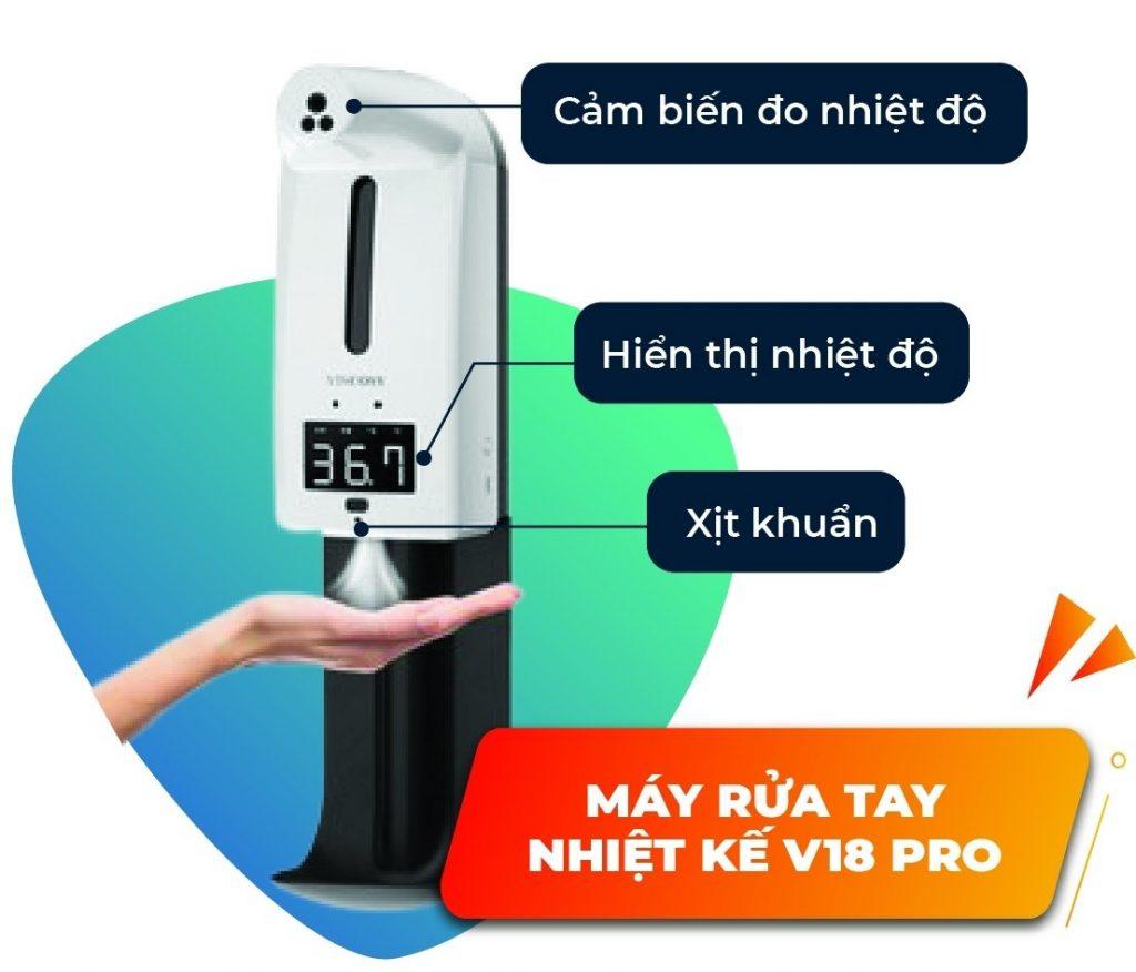 máy rửa tay cảm ứng v18 pro