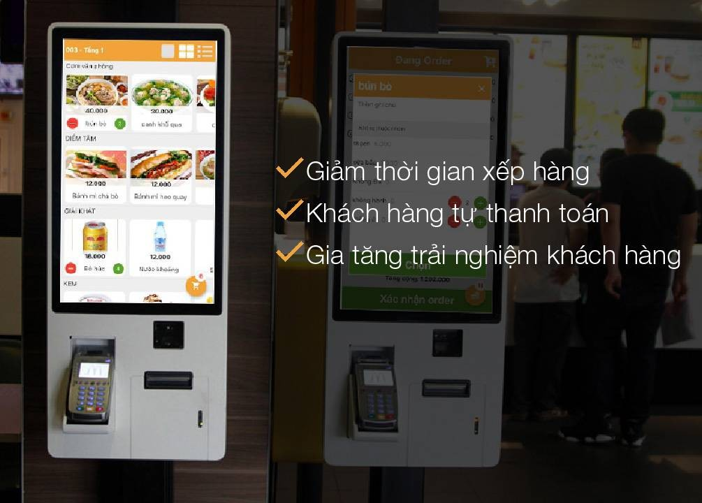 máy kiosk self order